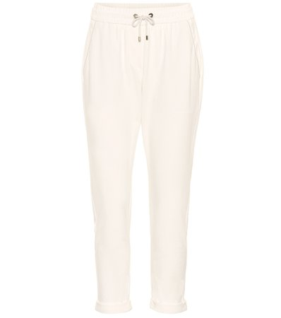 Cotton-Blend Cropped Pants | Brunello Cucinelli - Mytheresa