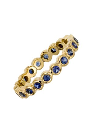 Temple St. Clair - 18K Yellow Gold Sapphire Eternity Ring | Mitchell Stores