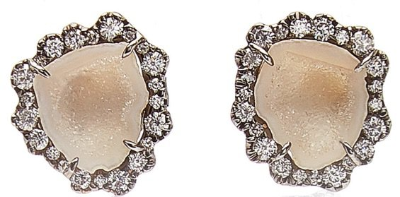 KIMBERLY MCCDONALD 18kt Geode & Diamond Earrings