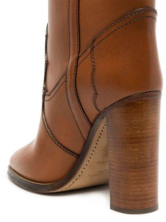 Saint Laurent Kate knee-height 105mm Boots - Farfetch
