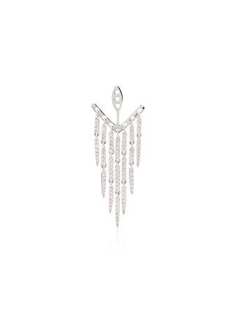 Yvonne Léon 18kt White Gold Earring Attachment - Farfetch