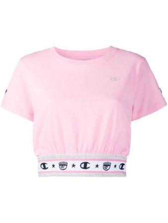Chiara Ferragni x Champion Cropped T-Shirt - Farfetch