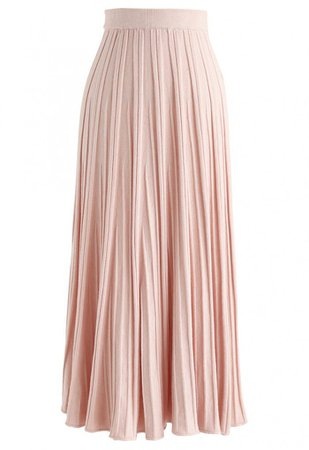 Stay With Knit Maxi Skirt in Peach - Skirt - BOTTOMS - Retro, Indie and Unique Fashion