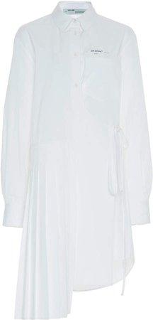 Off White C/O Virgil Abloh Wrap Panel Cotton Midi Dress