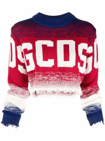 Gcds logo cropped sweatshirt