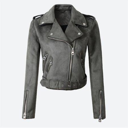 Women's Suede Leather Jackets Short Motorcycle Coat Womens 2020 Fashion Biker Faux PU Jacket Autumn Winter jaqueta de couro|Leather Jackets| - AliExpress