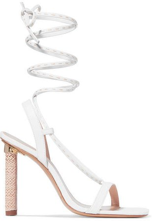 Bergamo Leather Sandals - White