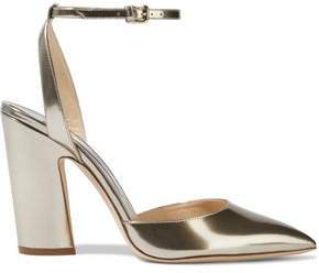 Micky 85 Mirrored-leather Pumps