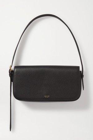 Anouk Textured-leather Shoulder Bag - Black