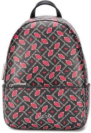 Lips-print backpack