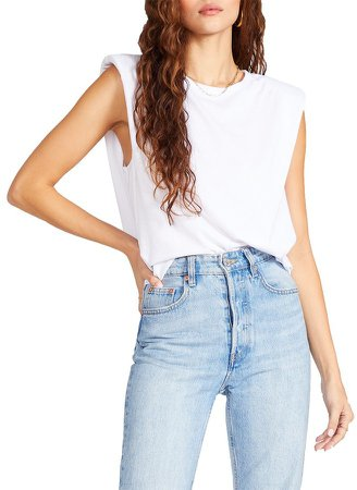 Shoulder Pad Tank White