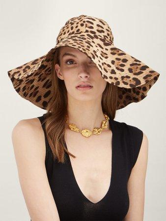 Leopard-print felt hat | Dolce & Gabbana | MATCHESFASHION.COM US
