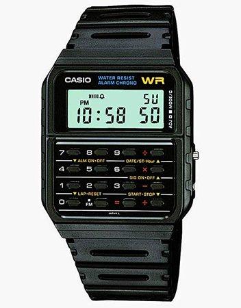 Casio Men's Twincept Databank ANI-Digi Resin Watch Black CA-53W-1Z: Casio: Amazon.ca: Watches