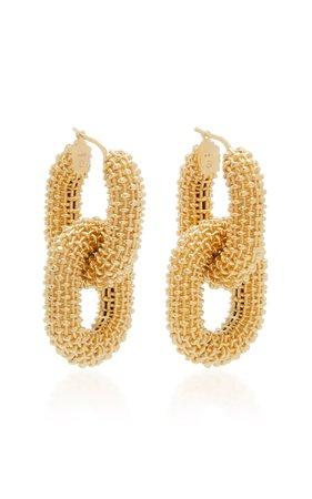 Chain-Link Gold-Plated Sterling Silver Earrings by Bottega Veneta | Moda Operandi