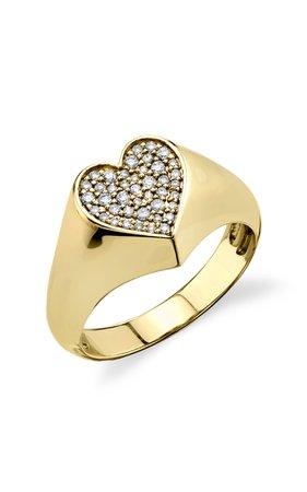 Sydney Evan Heart Signet Ring