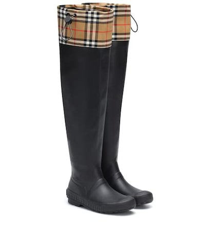 Check and rubber boots