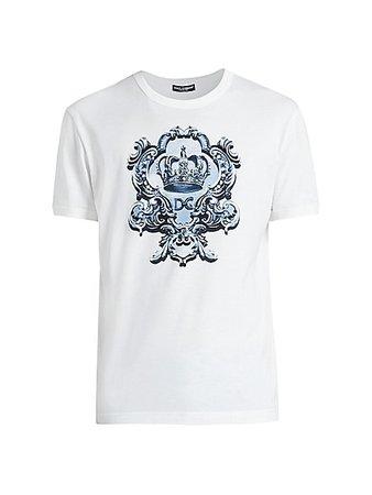 Dolce & Gabbana Crest Logo T-Shirt | SaksFifthAvenue