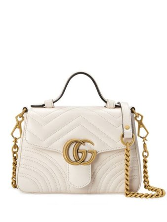 Gucci Mini Gg Marmont Bag 547260DTDIT White | Farfetch