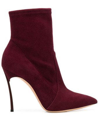 Casadei Blade Ankle Boots 1R672H100HHCAM Red | Farfetch