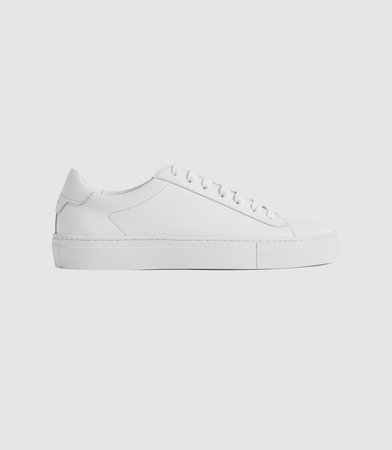 Finley White Leather Trainers – REISS