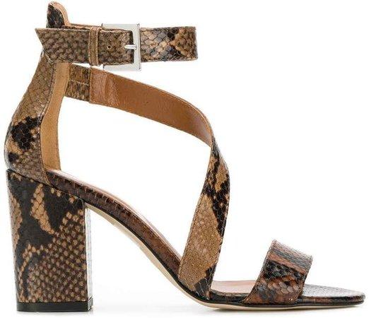snakeskin-effect sandals