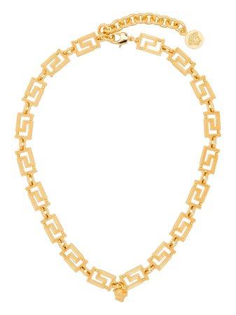 Versace Greca Medusa Detail Necklace - Farfetch