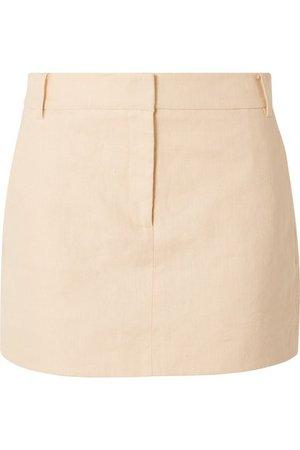 Tibi   Linen mini skirt   NET-A-PORTER.COM