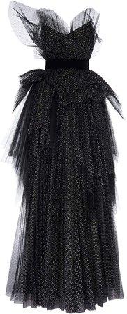 Ralph & Russo Glitter Pleat Ball Gown Size: 34