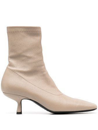 BY FAR kitten heel ankle boots - FARFETCH