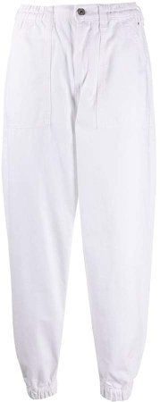 Elasticated Cuff Cropped Trousers