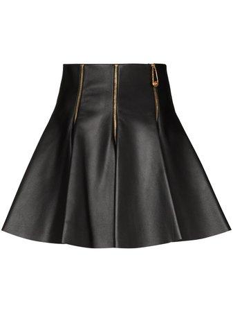 Versace, zip-accent Mini Skirt