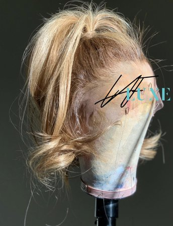 multicolored blond ponytail lace wig