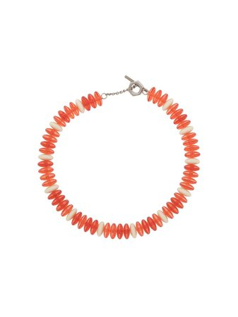 Shop orange Marni beaded choker necklace with Express Delivery - Farfetch