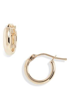 Bony Levy Beveled Edge Huggie Hoop Earrings (Nordstrom Exclusive) | Nordstrom