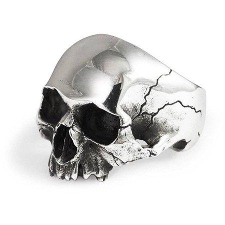 Silver Skull Head Ring