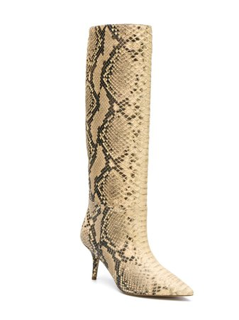 Yeezy Snake Effect Mid-Calf Boots YZ6016044 Neutral | Farfetch