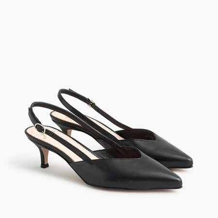 Sophia slingback pumps in leather