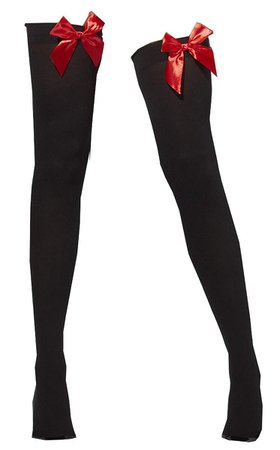 black knee socks with red bow - Google Search