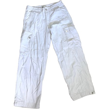 off white color cargo pants size 29 x 30 by... - Depop