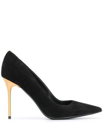 Balmain pointed-toe suede pumps black UN1C517LCAM - Farfetch