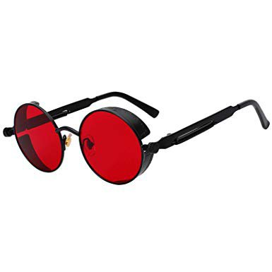 john lennon red round sunglasses