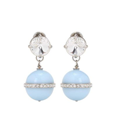 Pastel Blue Earrings (Miu Miu)