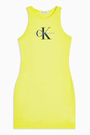 Yellow Tank Dress by Calvin Klein   Topshop