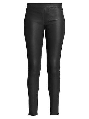 Helmut Lang Leather Leggings | SaksFifthAvenue