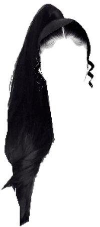 black ponytail hair edit png