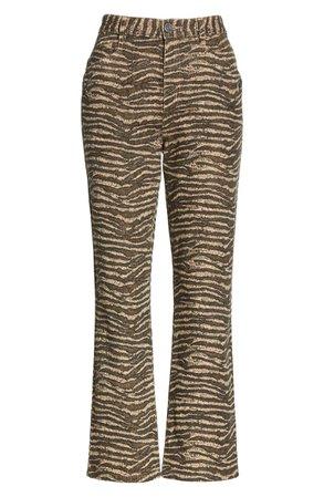 Joie Sharma Tiger Stripe Crop Pants | Nordstrom