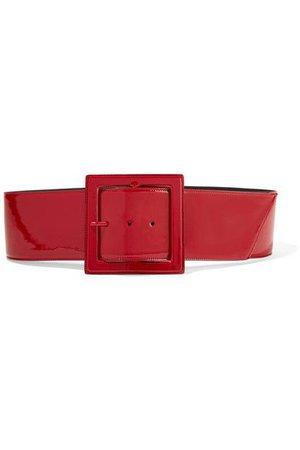 SAINT LAURENT Patent-leather waist belt.