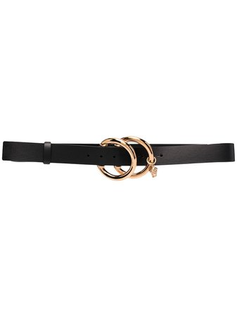 Versace Double O-ring Leather Belt - Farfetch