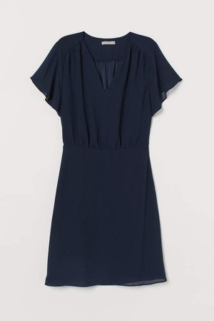 Chiffon Dress - Blue