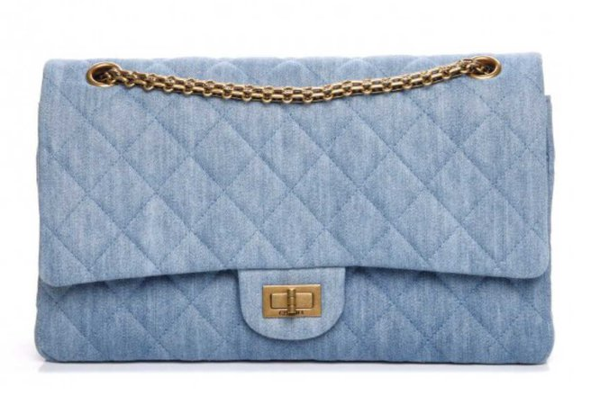 Chanel Denim Quilted Classic Flap Bag
